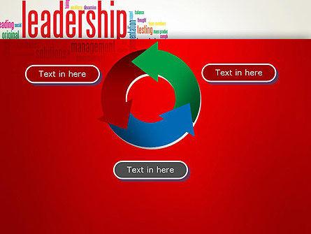Leadership Management Word Cloud PowerPoint Template Slide 9