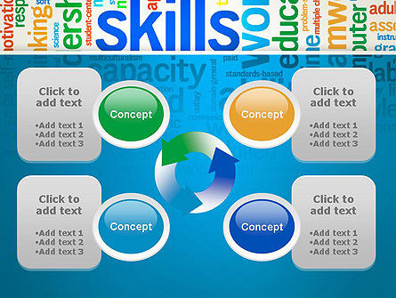 Human Resources Word Cloud PowerPoint Template Slide 9
