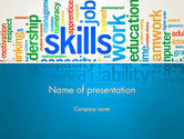 Careers/Industry: Human Resources Word Cloud PowerPoint Template #12846