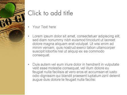 Go Green PowerPoint Template, Slide 3, 12847, Nature & Environment — PoweredTemplate.com