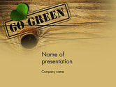 Nature & Environment: Go Green PowerPoint Template #12847