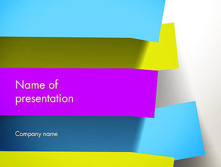 Abstract/Textures: Colorful Bookmarks Ribbons PowerPoint Template #12848