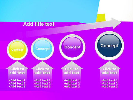 Colorful Bookmarks Ribbons PowerPoint Template Slide 13