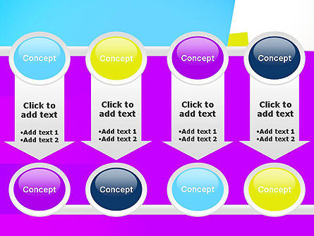 Colorful Bookmarks Ribbons PowerPoint Template Slide 18