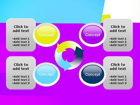 Colorful Bookmarks Ribbons PowerPoint Template Slide 9