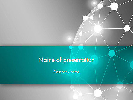 Network Sphere PowerPoint Template, 12853, Technology and Science — PoweredTemplate.com