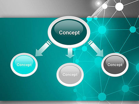 Network Sphere PowerPoint Template, Slide 4, 12853, Technology and Science — PoweredTemplate.com