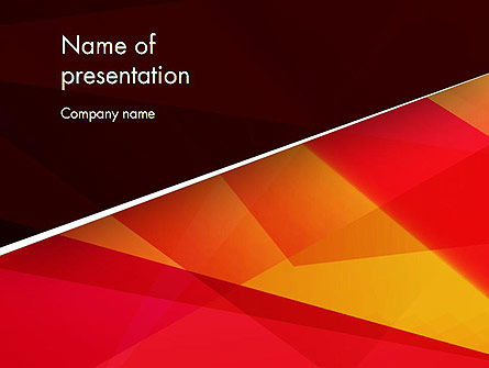 Abstract/Textures: Geometric Broken Lines PowerPoint Template #12854