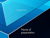 Abstract/Textures: Abstract Transparent Geometric Form PowerPoint Template #12858