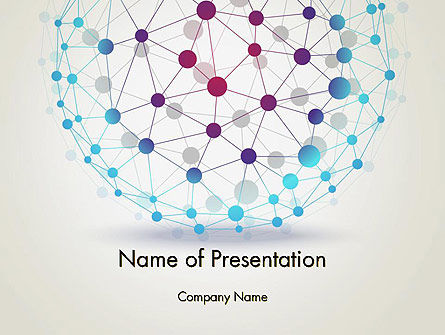Wire Frame Sphere PowerPoint Template, 12859, Technology and Science — PoweredTemplate.com