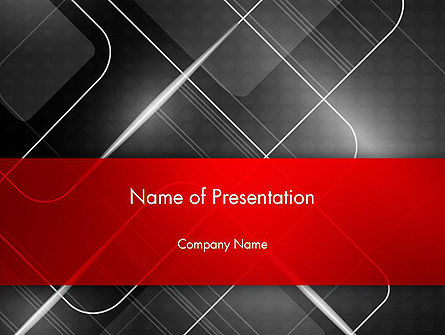 Abstract Pattern on Metal PowerPoint Template