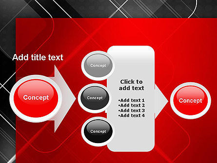 Abstract Pattern on Metal PowerPoint Template Slide 17