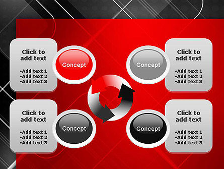 Abstract Pattern on Metal PowerPoint Template Slide 9