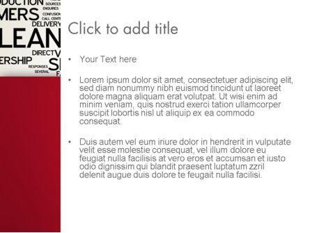 Lean Services Word Cloud PowerPoint Template, Slide 3, 12863, Careers/Industry — PoweredTemplate.com