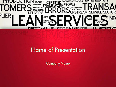Lean Services Word Cloud PowerPoint Template