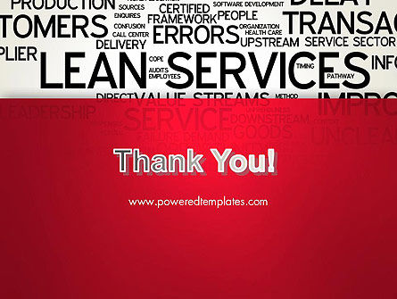 Lean Services Word Cloud PowerPoint Template Slide 20