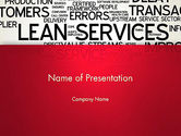 Careers/Industry: Lean Services Word Cloud PowerPoint Template #12863