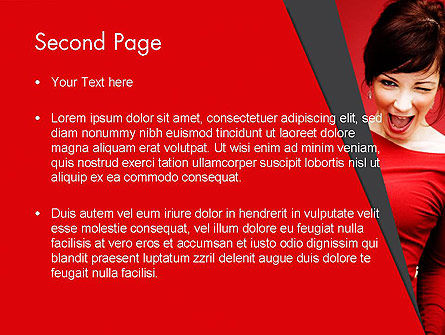 Woman Got Idea PowerPoint Template, Slide 2, 12864, People — PoweredTemplate.com