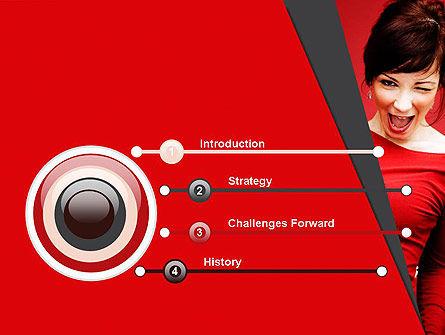 Woman Got Idea PowerPoint Template, Slide 3, 12864, People — PoweredTemplate.com