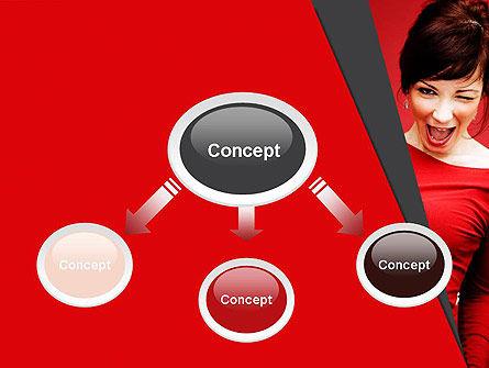 Woman Got Idea PowerPoint Template, Slide 4, 12864, People — PoweredTemplate.com