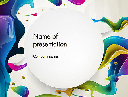 Multicolored Splat PowerPoint Template