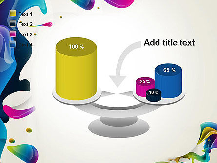 Multicolored Splat PowerPoint Template Slide 10