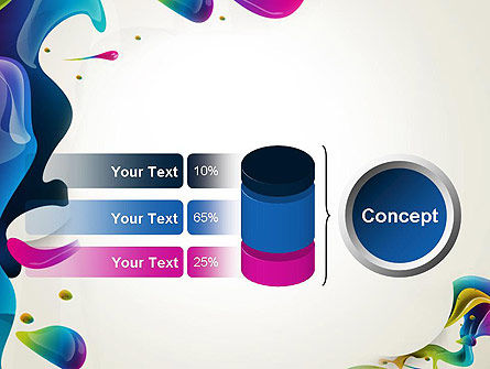 Multicolored Splat PowerPoint Template Slide 11
