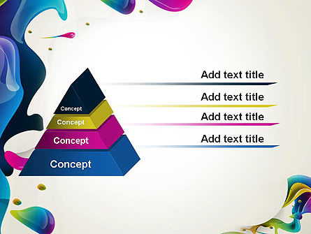 Multicolored Splat PowerPoint Template Slide 12