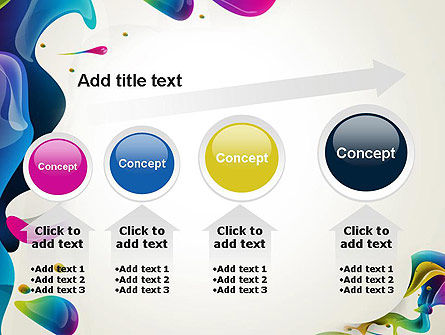 Multicolored Splat PowerPoint Template Slide 13