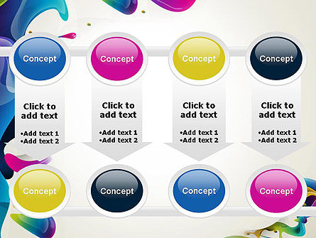 Multicolored Splat PowerPoint Template Slide 18