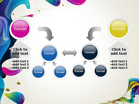 Multicolored Splat PowerPoint Template Slide 19