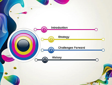 Multicolored Splat PowerPoint Template Slide 3