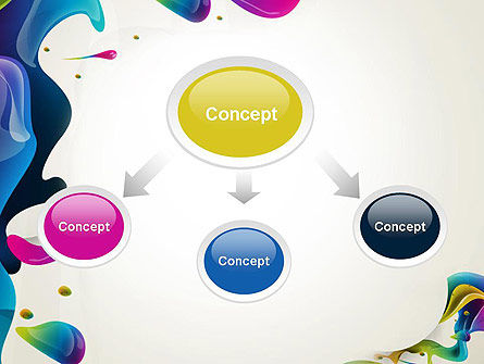 Multicolored Splat PowerPoint Template Slide 4