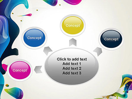 Multicolored Splat PowerPoint Template Slide 7