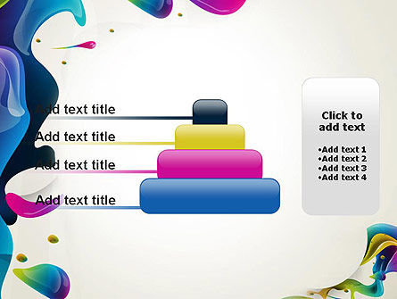 Multicolored Splat PowerPoint Template Slide 8