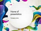 Abstract/Textures: Multicolored Splat PowerPoint Template #12865