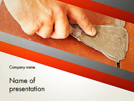 Putty Joints PowerPoint Template, 12867, Utilities/Industrial — PoweredTemplate.com