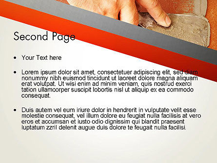 Putty Joints PowerPoint Template, Slide 2, 12867, Utilities/Industrial — PoweredTemplate.com