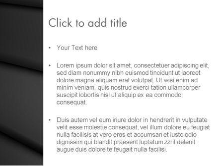 Black Layers Arranged Like a Fan PowerPoint Template, Slide 3, 12868, Abstract/Textures — PoweredTemplate.com