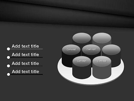 Black Layers Arranged Like a Fan PowerPoint Template Slide 12