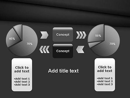 Black Layers Arranged Like a Fan PowerPoint Template Slide 16