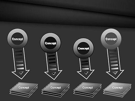 Black Layers Arranged Like a Fan PowerPoint Template Slide 8