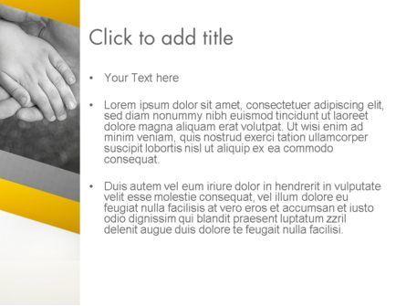 Supporting Hand PowerPoint Template, Slide 3, 12870, Religious/Spiritual — PoweredTemplate.com
