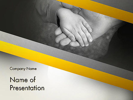 Supporting Hand PowerPoint Template, 12870, Religious/Spiritual — PoweredTemplate.com