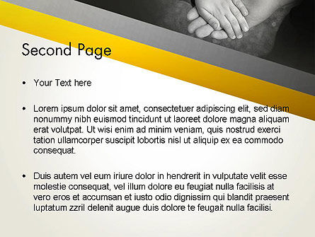 Supporting Hand PowerPoint Template, Slide 2, 12870, Religious/Spiritual — PoweredTemplate.com