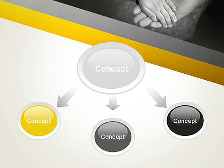 Supporting Hand PowerPoint Template, Slide 4, 12870, Religious/Spiritual — PoweredTemplate.com