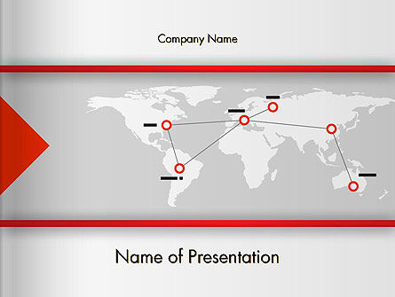 Company Branches PowerPoint Template, 12873, Business Concepts — PoweredTemplate.com