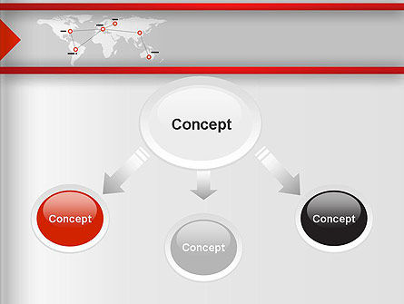 Company Branches PowerPoint Template, Slide 4, 12873, Business Concepts — PoweredTemplate.com