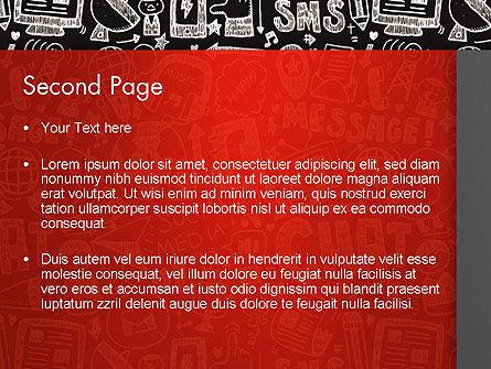 Message Doodles PowerPoint Template, Slide 2, 12875, Telecommunication — PoweredTemplate.com