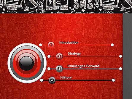 Message Doodles PowerPoint Template, Slide 3, 12875, Telecommunication — PoweredTemplate.com